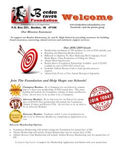 Borden Braves Foundation Flyer